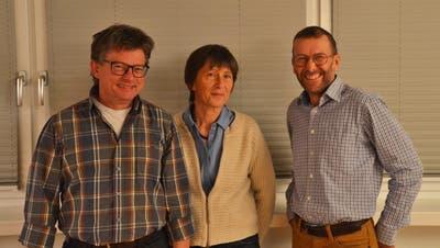 Glückliche neue Freimitglieder: Thomas Blapp, Ute Blapp und Felix Gemperli (von links). (Bild: PD)