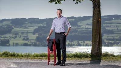 «Ich versuche stets, mich für die Region einzusetzen»: Damian Müller beim Schloss Heidegg mit Blick auf den Baldeggersee. (Bild: Pius Amrein, 20. September 2019)