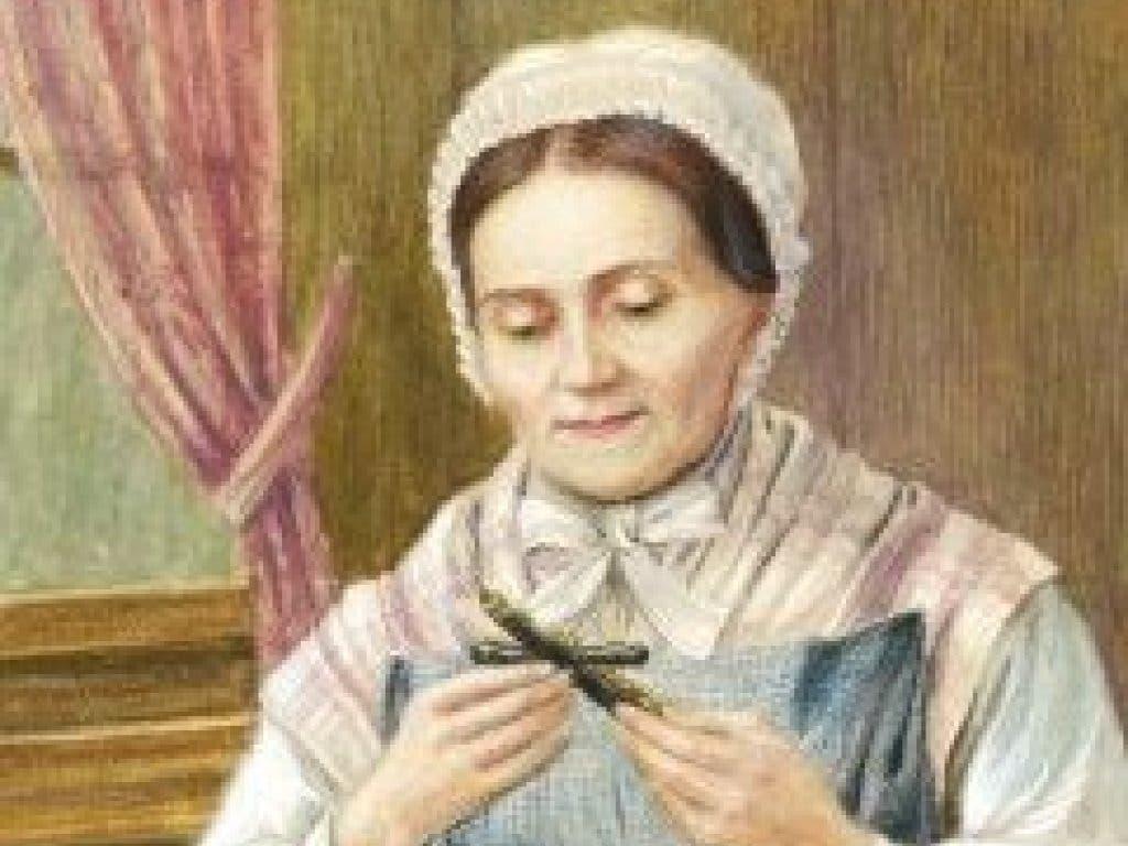 Ein Bild von Marguerite Bays beim Meditieren. (Bild: Fondation Marguerite Bays)