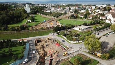 Die Inbetriebnahme der Mühlegutstrasse ist auf den Spätsommer 2020 geplant. (Bild: Hardy Buob (23.September 2019))