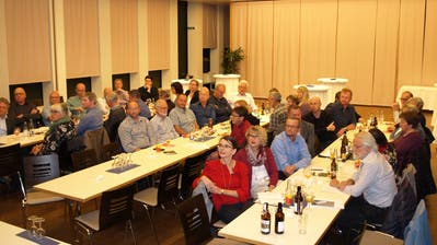 Die Delegierten der CVP Nidwalden beschäftigten sich mit der kantonalen Abstimmung vom 24. November. (Bild: Kurt Liembd, Stans, 31. Oktober 2019)