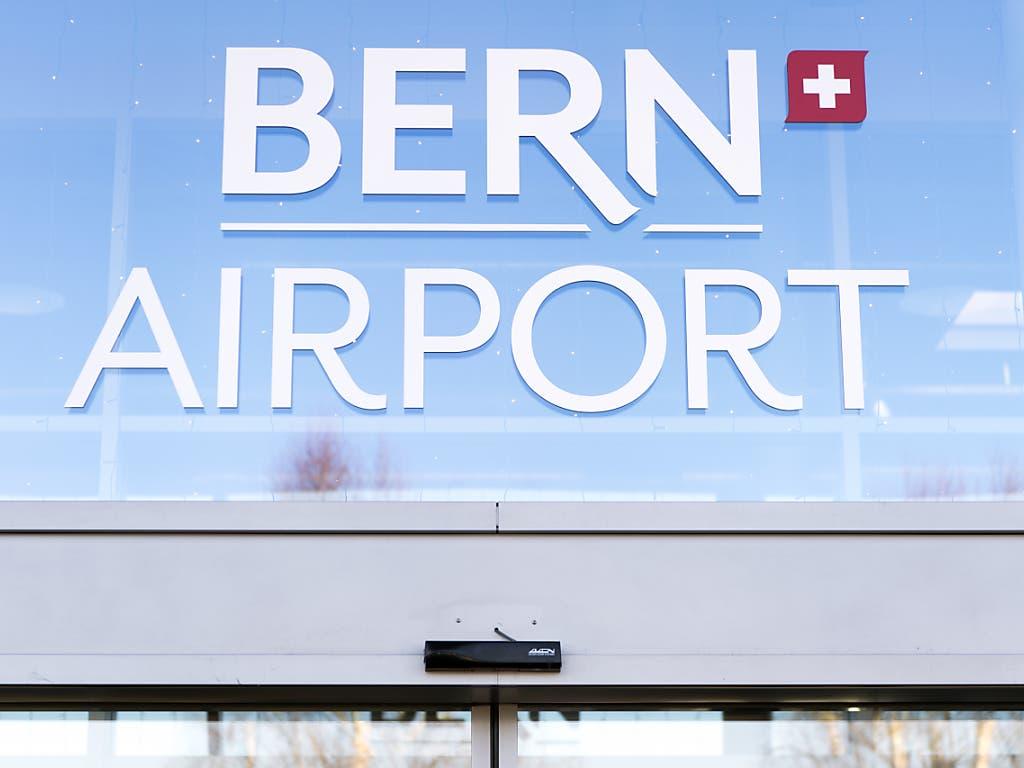 Der Flughafen Bern setzt auf Crowdfunding, um wieder Linienflüge in die Luft zu bringen. (Bild: KEYSTONE/ANTHONY ANEX)