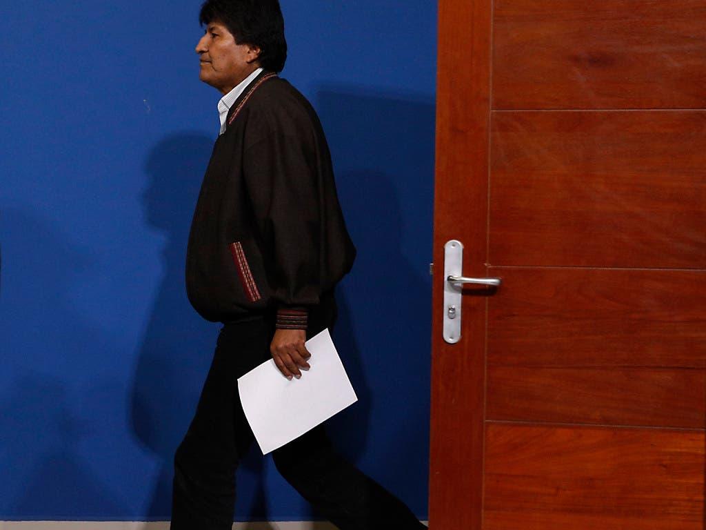 Nach seinem Abgang als Präsident Boliviens hat Evo Morales in Mexiko einen Antrag um politisches Asyl gestellt. Die Antwort ist positiv. (Bild: KEYSTONE/AP/JUAN KARITA)