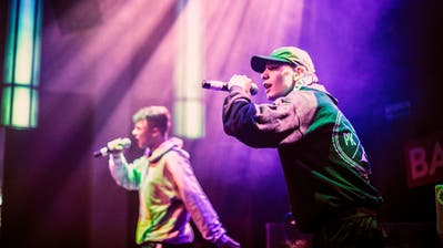 Das Hip-Hop-Duo Padel aus Mörschwil und Arbon hat sich für das Finale qualifiziert. (Bild: Noemi Müller)