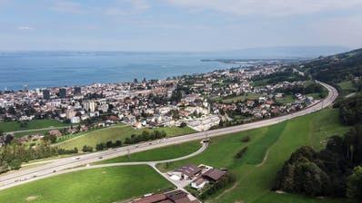 Jetzt ist es definitiv: In der Region Rorschach wird ein neuer Autobahnanschluss gebaut. (Bild: Michel Canonica)
