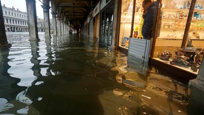 «Eine Katastrophe»: Venedig von Rekord-Hochwasser heimgesucht