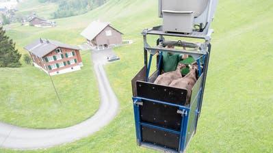 Die Kleinseilbahn Emmetten-Niederbauen. (Bild: Keystone, 18. Mai 2018)