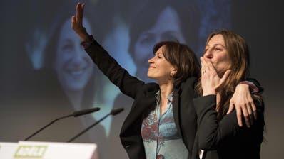 Grünes Experiment: Regula Rytz (l.) und Adèle Thorens führten die Partei bis vor drei Jahren im Duo. (Bild: Ennio Leanza/Key (Zofingen, 16. April 2016))