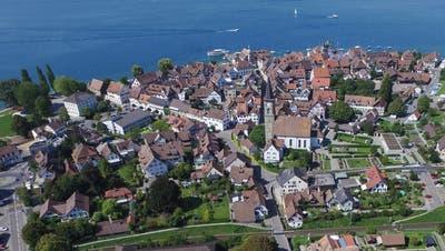 Die Steckborner Altstadt von oben. (Bild: Olaf Kühne)