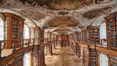 Die Stiftsbibliothek ist ein mögliches Wahrzeichen des St.Galler Themenblocks Wissen-Gesellschaft an der Landesausstellung 2028. (Bild: Urs Bucher - 18.Dezember 2018)