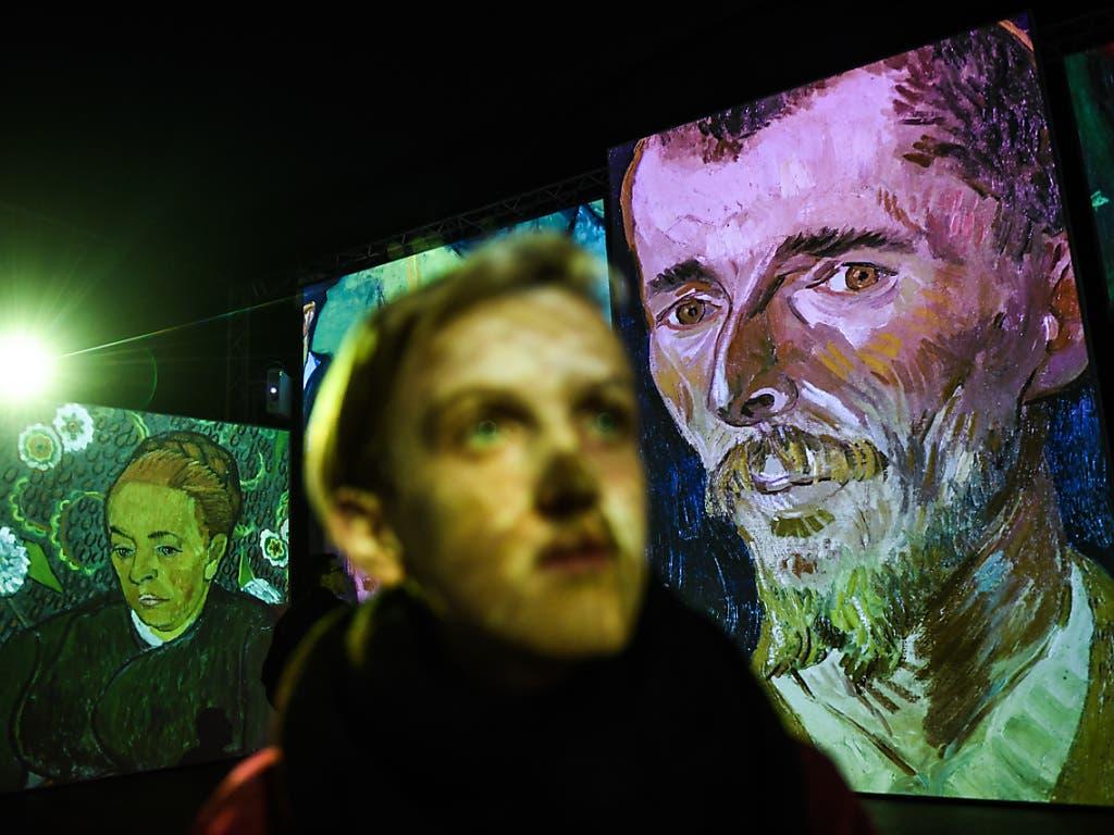 Die multimediale Ausstellung «Van Gogh Alive - The Experience» macht erstmals in der Schweiz halt. (Bild: KEYSTONE/Ti-Press/ALESSANDRO CRINARI)