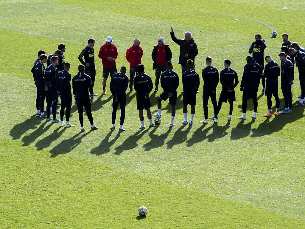 Die Schweizer bereiten sich auf das letzte Heimspiel der EM-Qualifikation vor (Bild: KEYSTONE/ENNIO LEANZA)