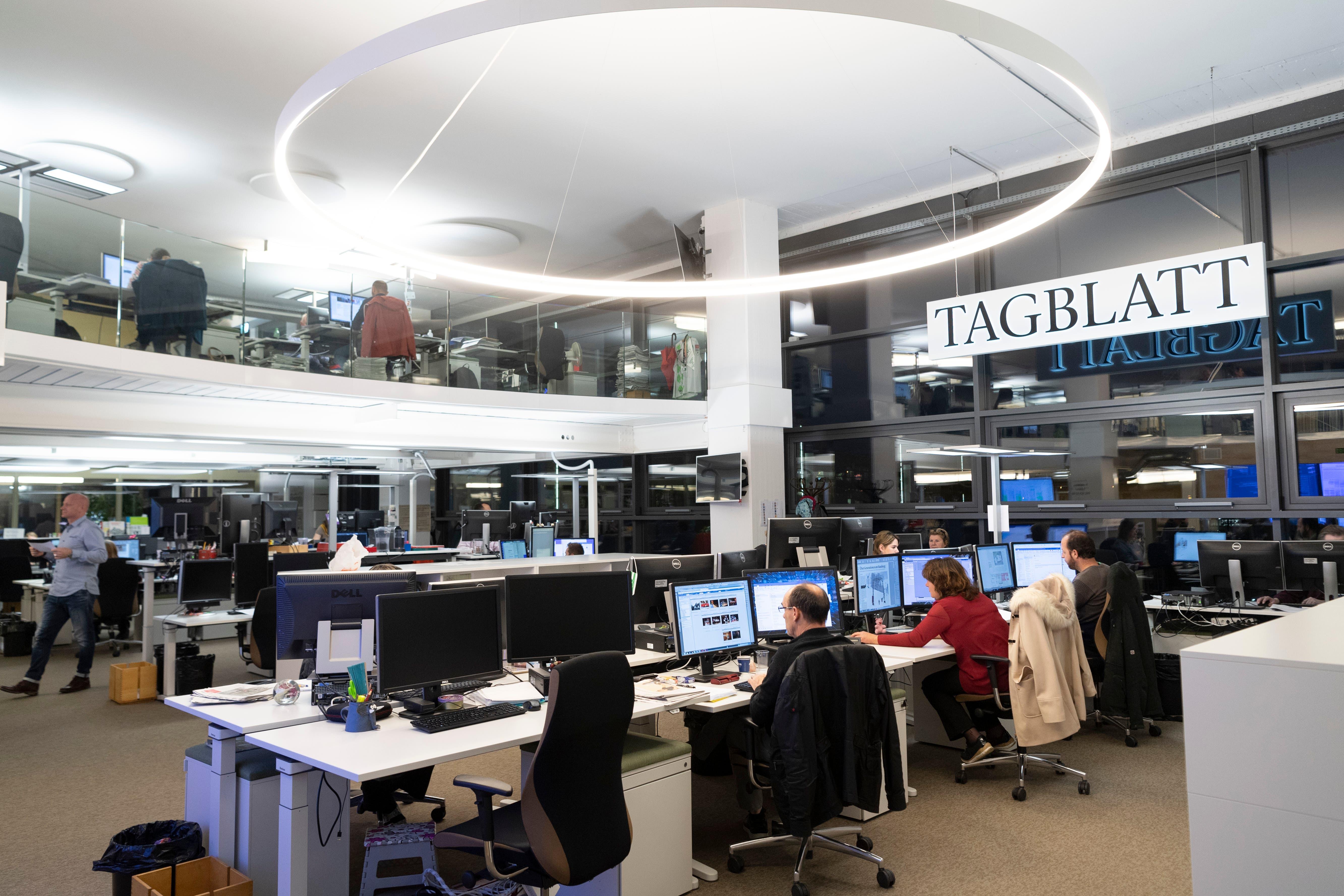 Der Newsroom des St.Galler Tagblatts.