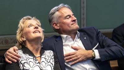 Matthias Michel und seine Frau Christina Michel-Wüest. (Bild: Stefan Kaiser, Zug,  17. November 2019)