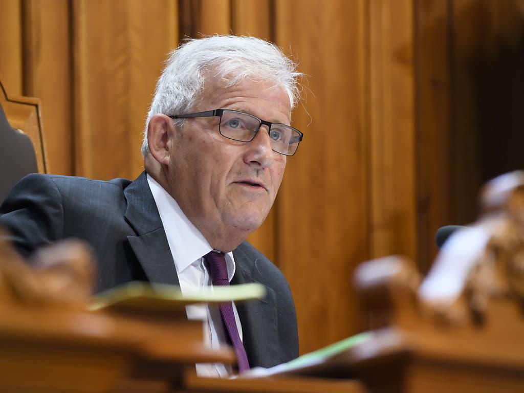 Hans Stöckli (SP) verteidigt seinen Ständeratssitz. (Bild: Keystone/Anthony Anex)