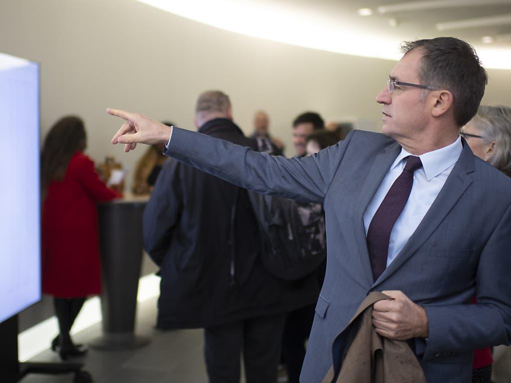 Die SVP scheiterte mit ihrem erneuten Angriff auf SP-Ständerat Paul Rechsteiner. Nationalrat Roland Rino Büchel (Bild) landete auch im zweiten Wahlgang hinter den Bisherigen. (Bild: KEYSTONE/GIAN EHRENZELLER)