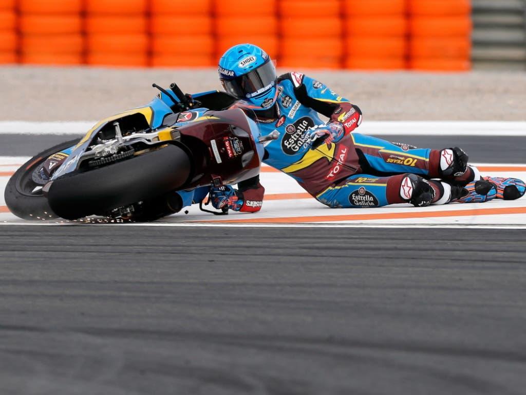 Trotz Sturz in Valencia Moto2-Weltmeister: der Spanier Alex Marquez (Bild: KEYSTONE/EPA EFE/MANUEL BRUQUE)