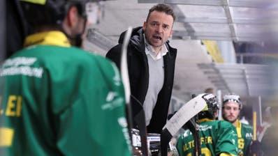 Wenig Lob vom Coach: Stephan Mair muss mit dem HC Thurgau die vierte Auswärtsniederlage in Folge hinnehmen.(Bild: FOTO GACCIOLI KREUZLINGEN)