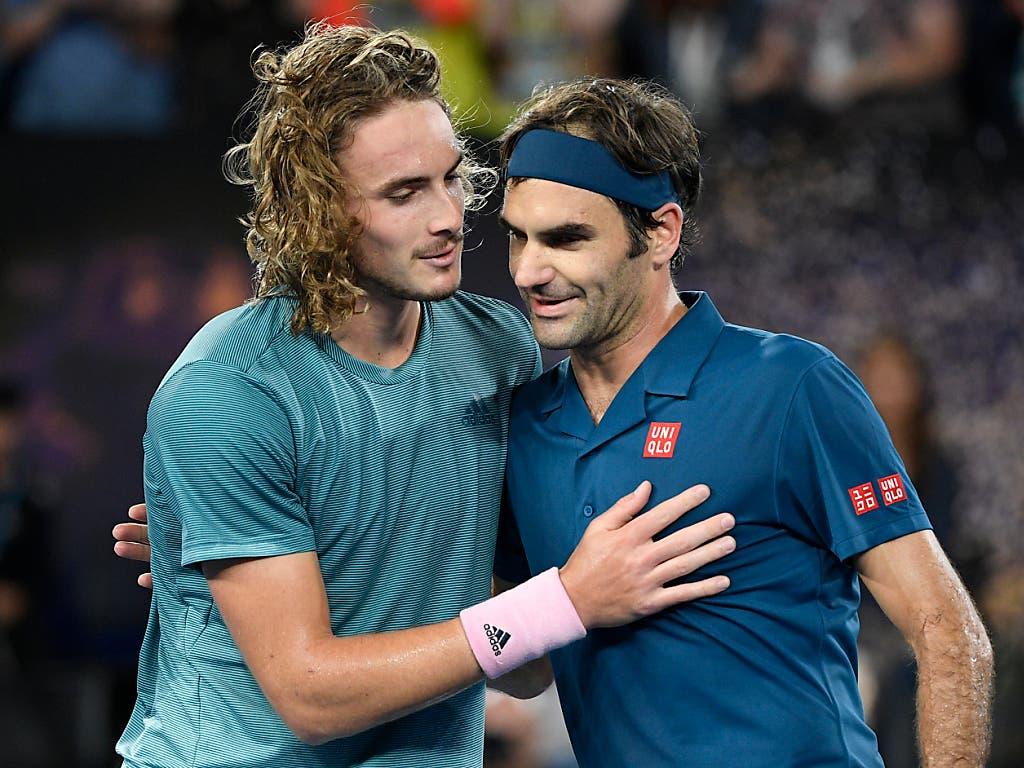 Am Australian Open gab es im Achtelfinal eine Niederlage gegen den jungen Wilden Stefanos Tsitsipas (Bild: KEYSTONE/AP/ANDY BROWNBILL)