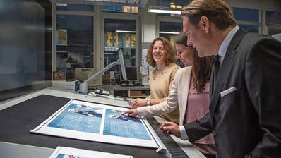 Prominenter Besuch in der Druckerei Engelberger