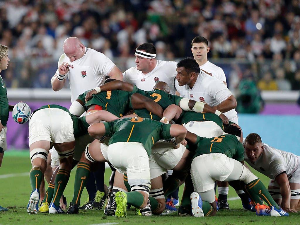 Die Südafrikaner traten beim Gedränge zumeist sehr dominant auf (Bild: KEYSTONE/AP/MARK BAKER)