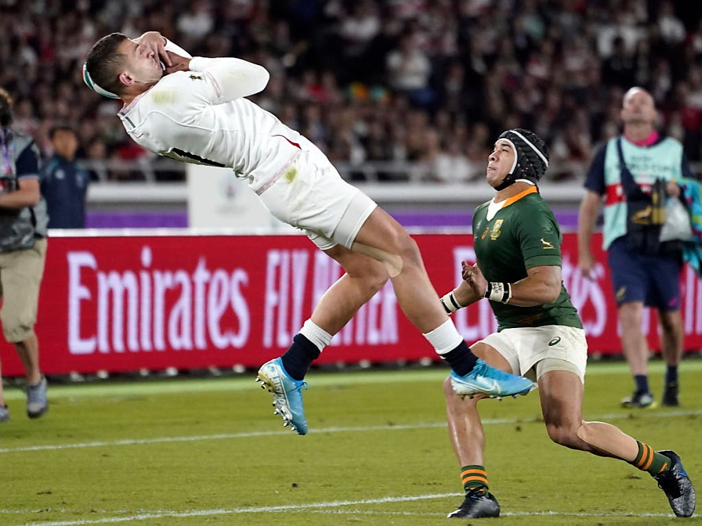 Jonny May und die Engländer befanden sich ab Spielbeginn in Rücklage (Bild: KEYSTONE/EPA/FRANCK ROBICHON)