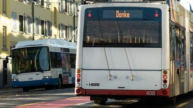 Diese Anzeige am Heck des Busses blinkt jeweils für ein paar Sekunden auf. (Bild:VBL)