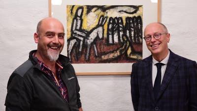 Präsident Christian Tobler und Bewerber Tobias Arni. (Bild: Werner Lenzin)