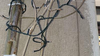 Mit einem Messer haben die Täter die Kabel durchgeschnitten. (Bilder: PD)