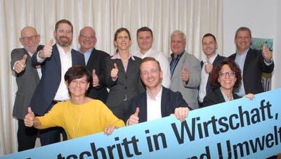 Die Nominierten der FDP Bezirk Münchwilen für die Bezirks- und Kantonsratswahlen. (Bild: PD)