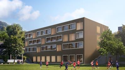 Zwölf Klassenzimmer soll das neue Schulhaus umfassen. (Visualisierung: PD)