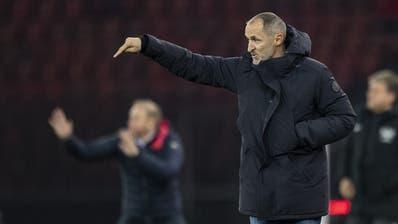 Für FCL Trainer Thomas Häberli dürfte es nach der erneuten Niederlage eng werden. (Bild: Ennio Leanza/Keystone, 23. November 2019)