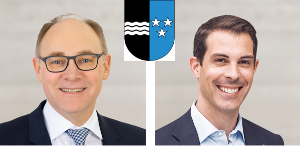 AargauKnecht Hansjörg (SVP, 73'692 Stimmen, links im Bild)Burkart Thierry (FDP, 99'372 Stimmen, rechts im Bild)