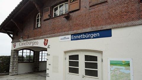 Die Schiffstation Ennetbürgen. (Bild: Ruedi Wechsler, 25. November 2019)