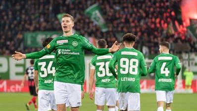 In diesen Wochen passt beim FC St.Gallen alles zusammen. Nicht nur dank Cedric Ittens fulminantem Start in der Nationalmannschaft. (Bild: Michel Canonica)