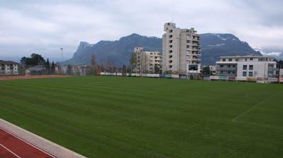 Der Sportplatz Grossmatt hätte für 1,86 Millionen saniert werden sollen. (Bild: Kurt Liembd, Hergiswil, 19. November 2019)