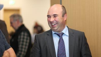 Grosse Freue bei Daniel Furrer, der offiziell als Kandidat aufgestellt wurde. (Bild: Florian Arnold, Altdorf, 27. November 2019)