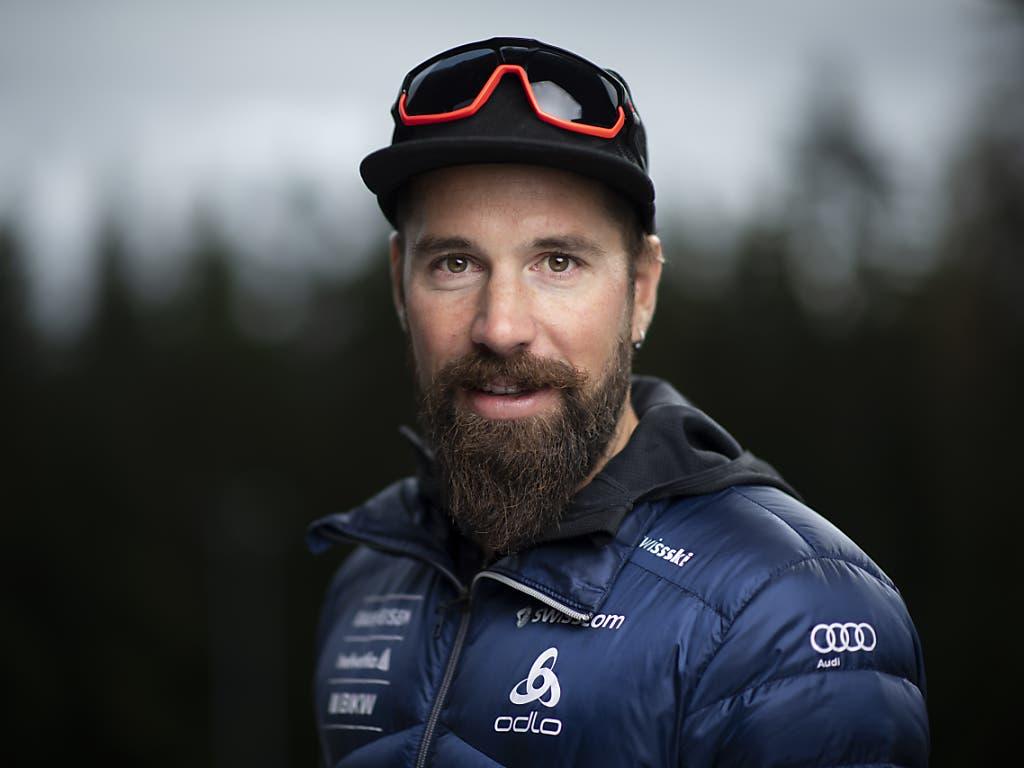 Freut sich auf die neue Saison: der beste Schweizer Biathlet Benjamin Weger (Bild: KEYSTONE/GIAN EHRENZELLER)