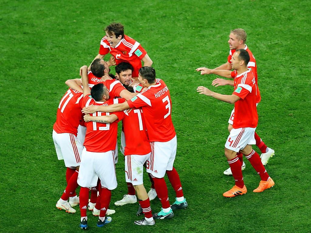 An der Heim-WM stürmten die Russen bis in die Viertelfinals - und an der EM 2020? (Bild: KEYSTONE/EPA/MAHMOUD KHALED)