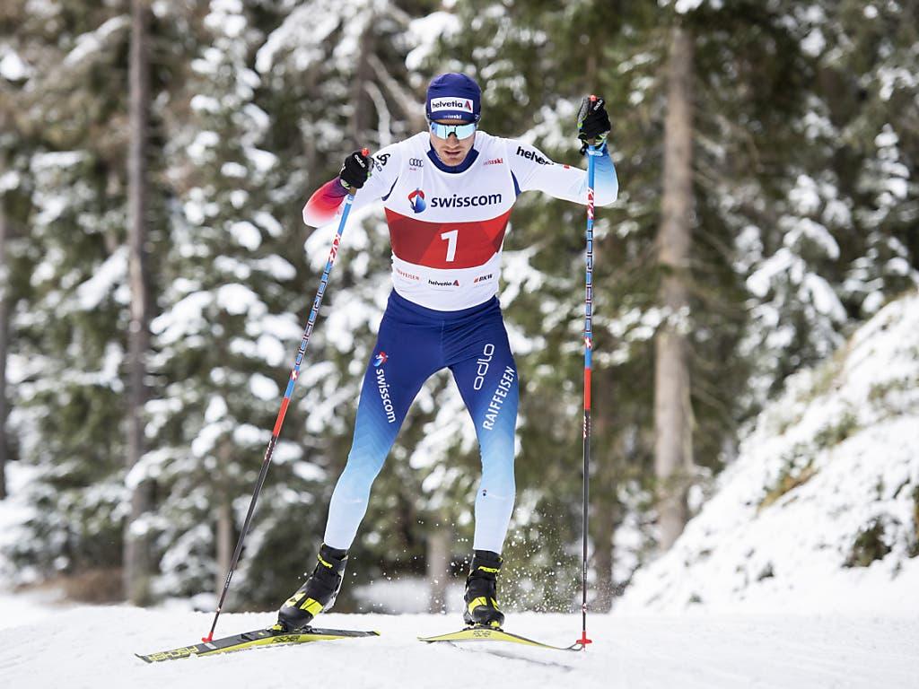 Dario Cologna konnte im verschneiten Davos trainieren.