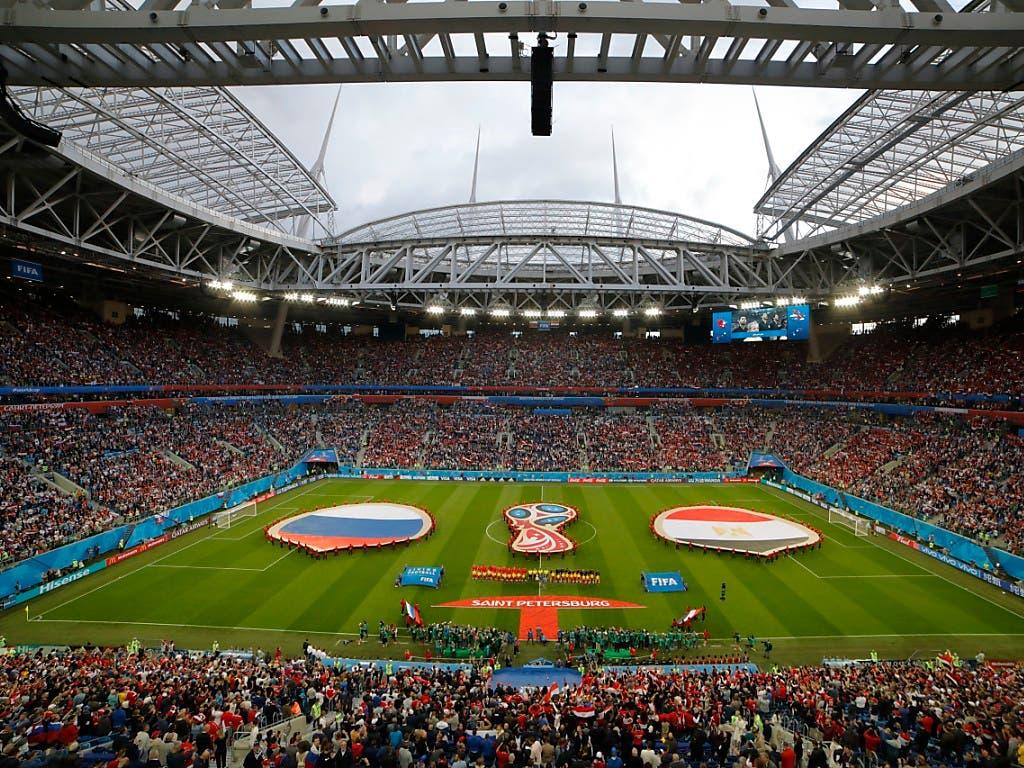 Die Gazprom-Arena in St. Petersburg war Prunkstück der WM 2018 und ist Spielort der EM 2020 (Bild: KEYSTONE/AP/DMITRI LOVETSKY)