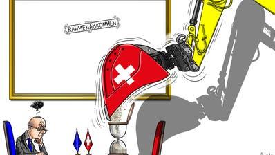 In der Schweiz geht es bezüglich Rahmenabkommen nicht vorwärts. (Illustration: Silvan Wegmann)