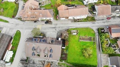Drohnenbildder Gemeindeverwaltung Homburg. ((Bild: Andrea Stalder))