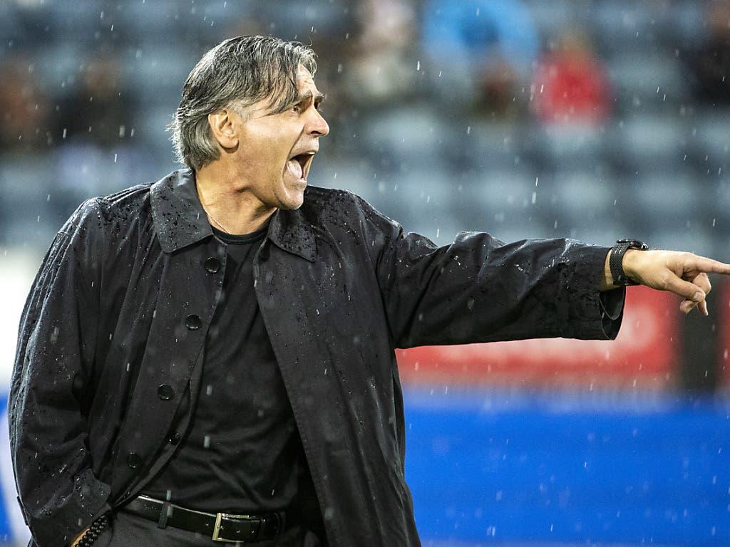 Der neue Trainer Maurizio Jacobacci wies Lugano bereits im ersten Spiel den Weg zum Sieg (Bild: KEYSTONE/ALEXANDRA WEY)