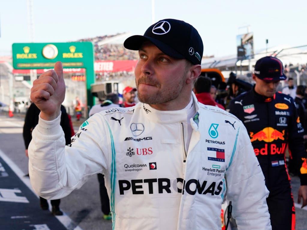 Valtteri Bottas feierte seinen siebten Sieg in der Formel 1, den vierten in diesem Jahr (Bild: KEYSTONE/FR171712 AP/CHUCK BURTON)