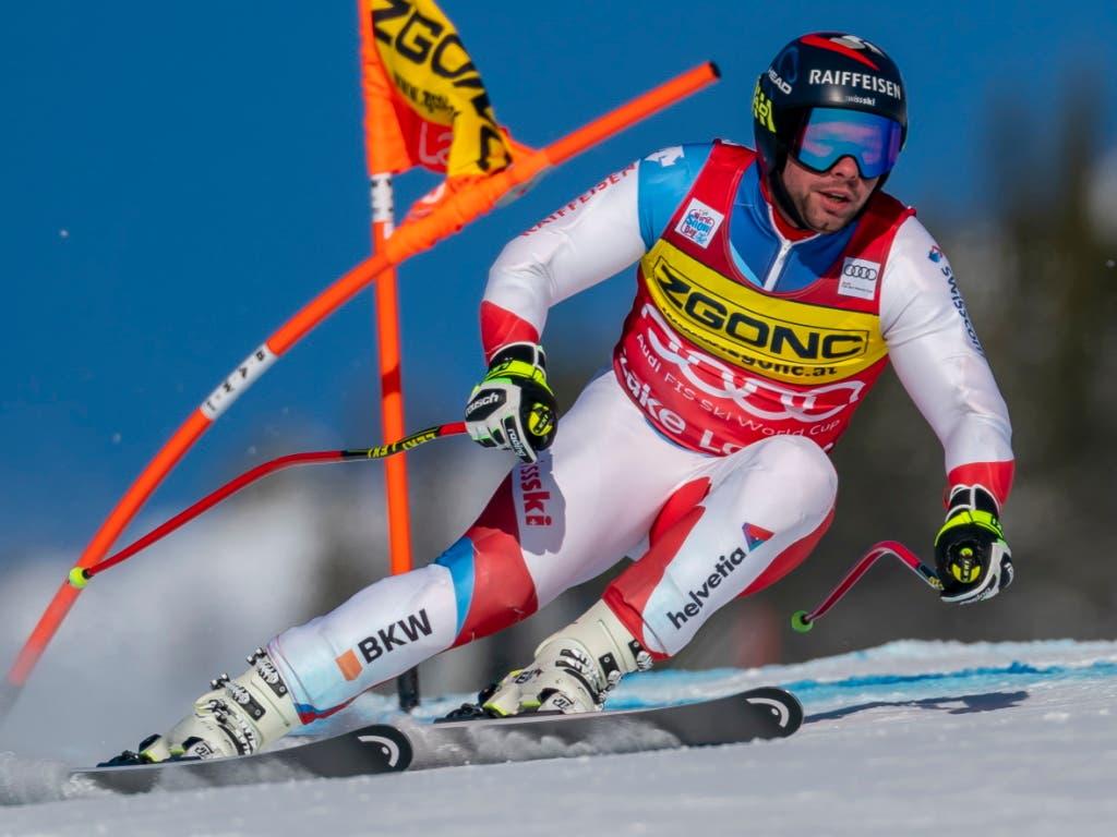 Beat Feuz belegte zeitgleich mit Carlo Janka den 3. Rang - 0,26 Sekunden fehlten dem Duo zum deutschen Sieger Thomas Dressen