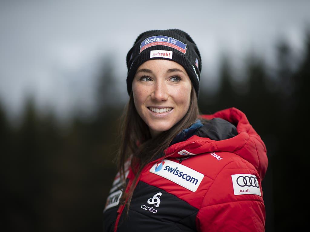 Vertreten die Schweiz in der Single-Mixed-Staffel: Aita Gasparin...