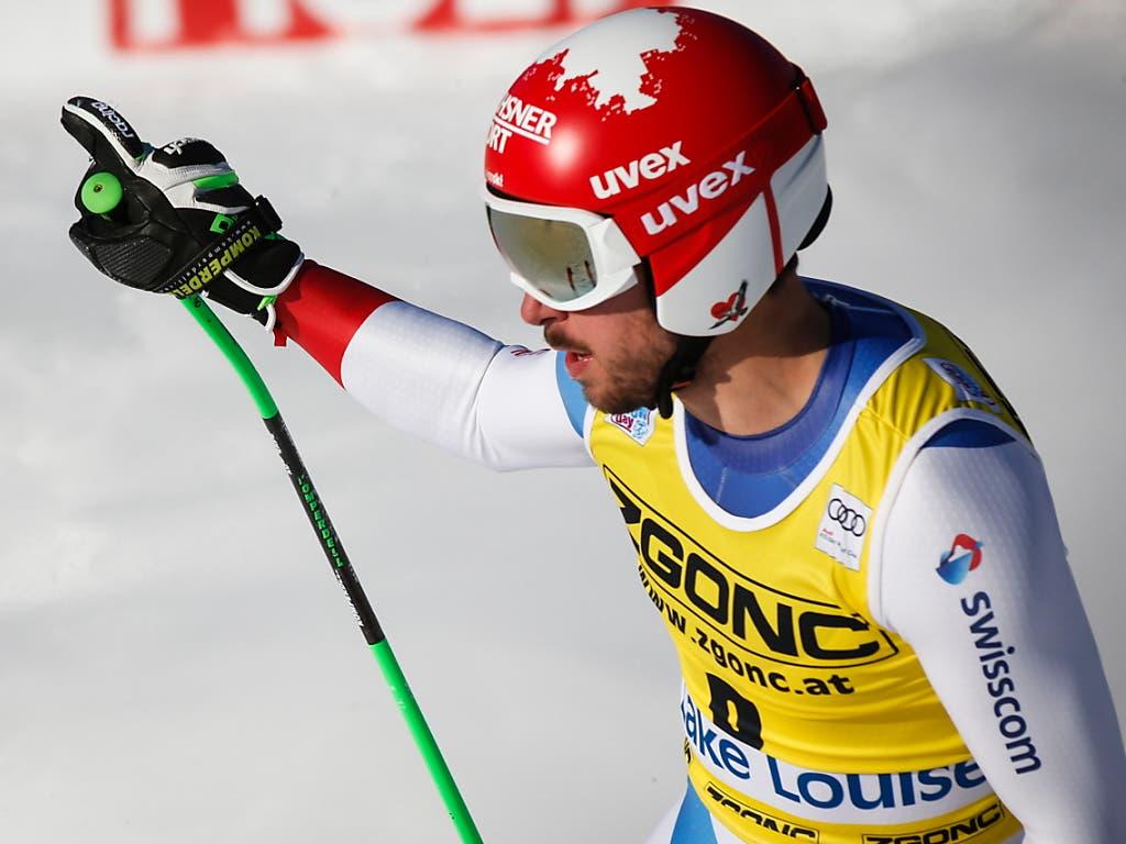 Nach zweieinhalb Jahren erstmals wieder auf dem Weltcup-Podest: Carlo Janka