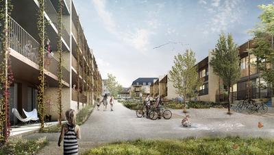 Visualisierung des Projektes mit dem zentralen Innenhof. (Bild: PD)