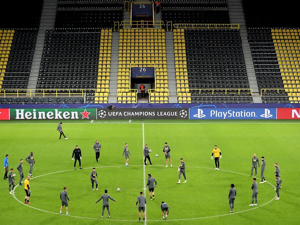 Dortmunds Gruppengegner Inter beim Abschlusstraining in Dortmund (Bild: KEYSTONE/EPA/FRIEDEMANN VOGEL)